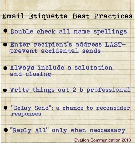 email etiquette best practices