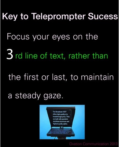 Presentation skills training teleprompt