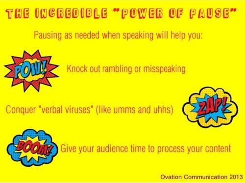 presentation skills training pause