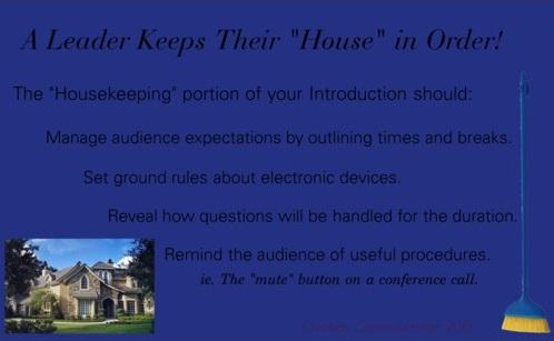 Professional communication skills housekeeping