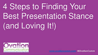 Finding best presentation stance