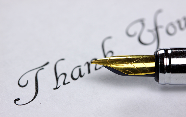 how to write thank you notes
