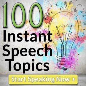 speech presentation ideas